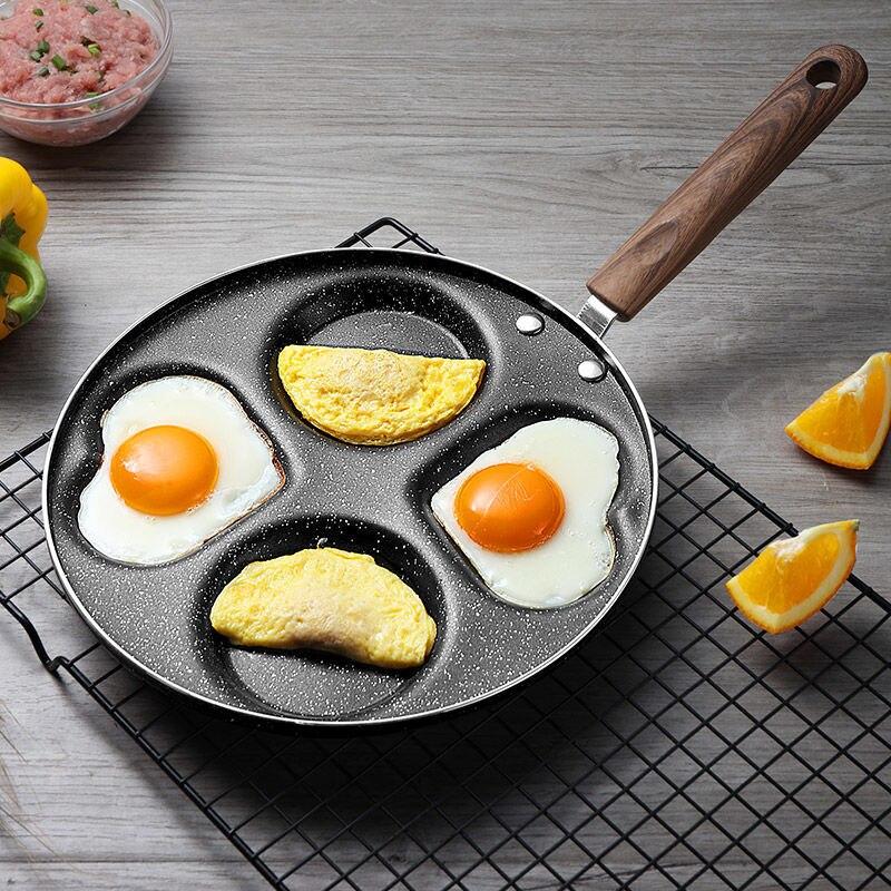 El fabricante de utensilios de cocina antiadherente Wok cuatro agujero sartén engrosada...