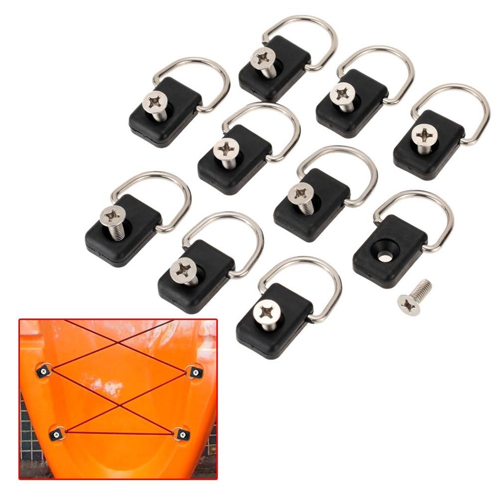 10 Uds Canoa Kayak Piscina Grande aparejo Kit de puenting accesorio negro...