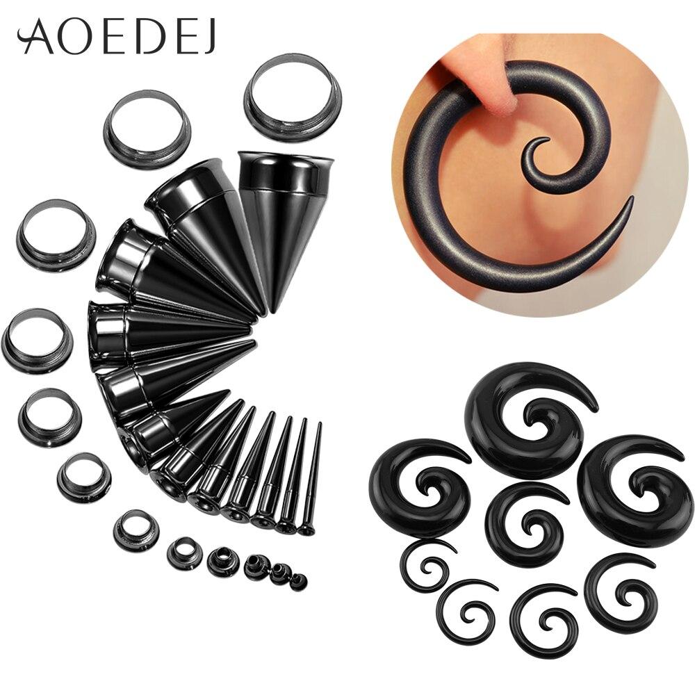 Акриловые затычки для ушей и туннели AOEDEJ 2 шт. 2-20 мм растяжки для ушей из нержавеющей стали 316 2 в 1 затычки для пирсинга