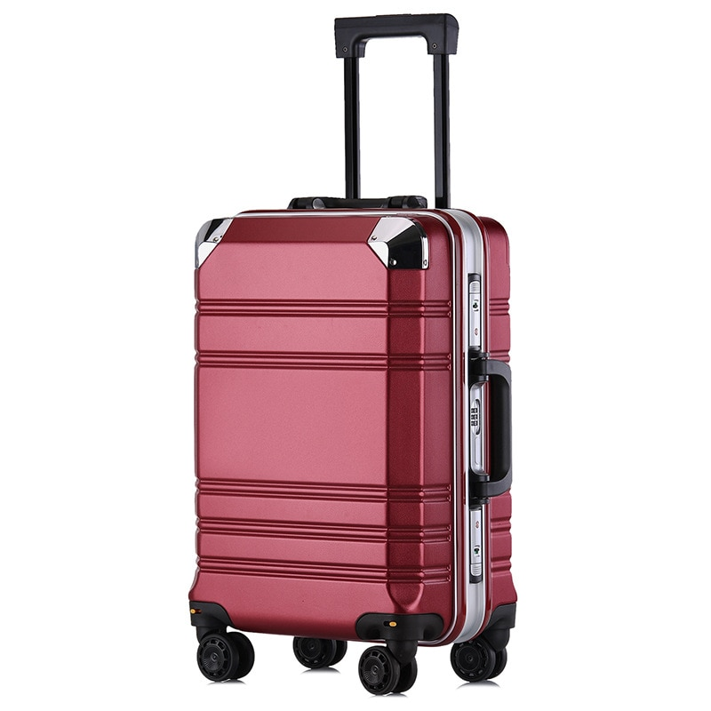 20' Men and Women Check-in Box Luggage for Travel Aluminum-framed PC Luggage Case Business Suitcase Burden Spinner Carry-ons