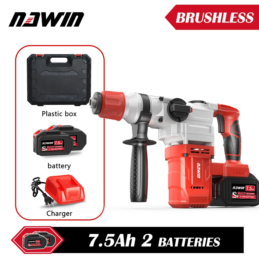 NAWIN-مطرقة كهربائية عالية الطاقة للخدمة الشاقة ، كسارة خرسانة ، كسر سريع ، محمل حائط 60 سنتيمتر ، أداة كهربائية