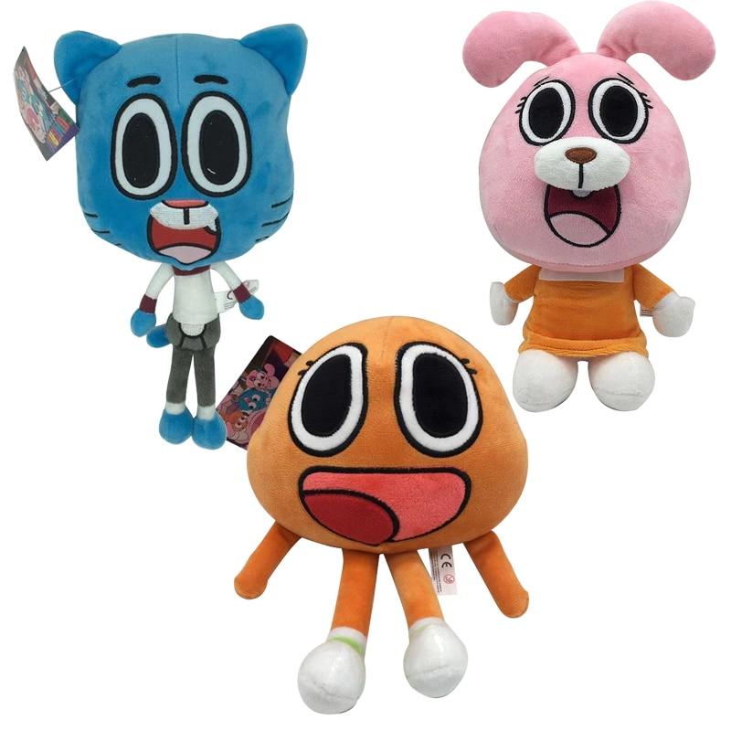 1 Uds. 25cm de dibujos animados del asombroso mundo Gumball Darwin Anais juguetes de peluche muñeca conejito suave juguetes de peluche regalos de muñecas para niños