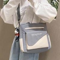 kawaii women shoulder bag crossbody shopping bags teenage girls student bookbag handbags new casual tote with transparent pocket