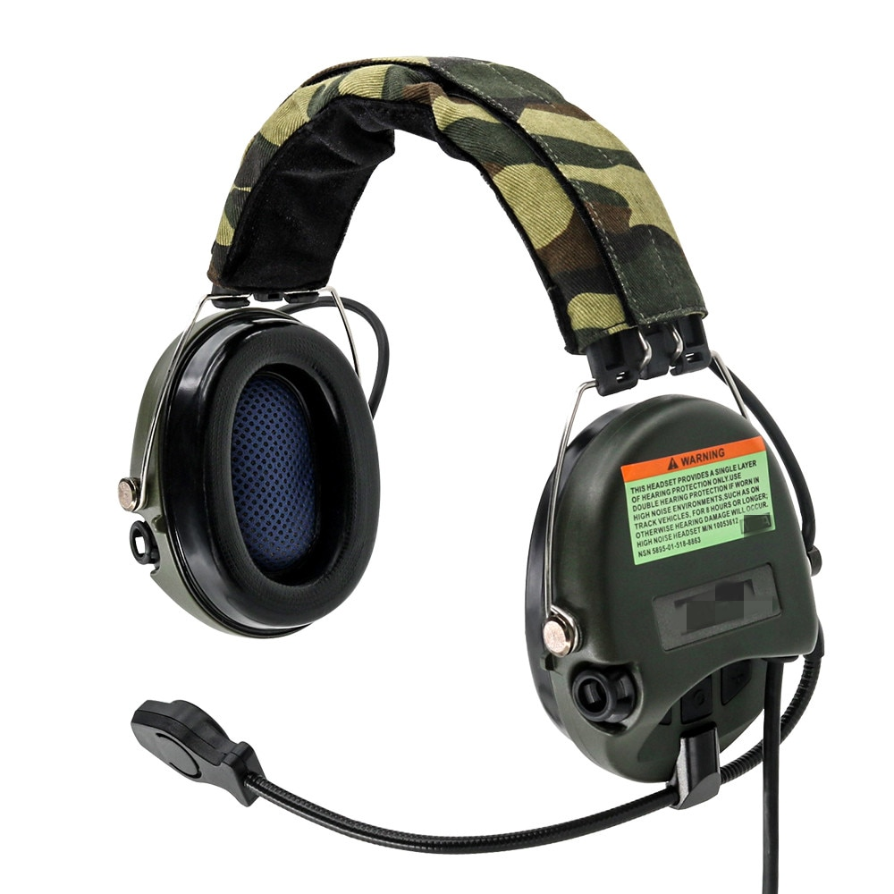 TCIHEADSET Tactical Hunting Pickup Noise Reduction MSASORDIN Headphone Airsoft Tactical Headset Electronic Shooting Earmuffs FG