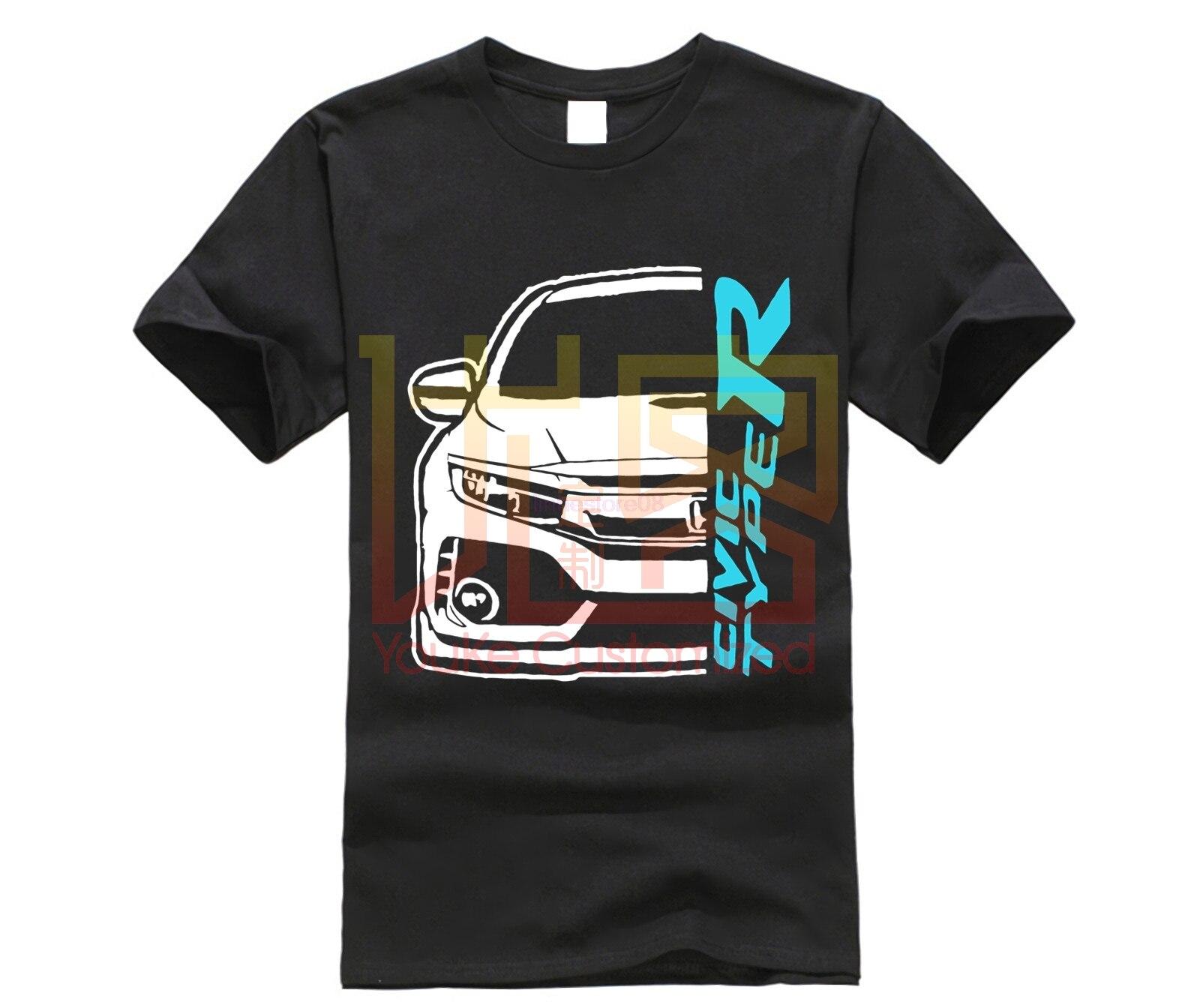 2020 verão venda quente t camisa de fitness o pescoço t camisa tipo cívico r fk8 r jdm men manga curta hip hop casual