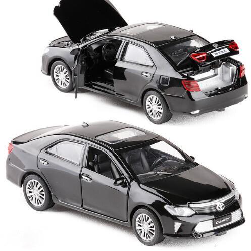 Nouveau modèle Miniature de modèle de voiture moulé sous pression en alliage métallique CAMRY à léchelle 132 avec modèle de lumière sonore rétractable pour jouets de voiture pour enfants