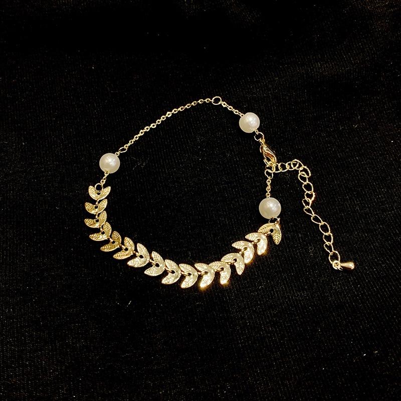Wheatear Pearl Bracelet Ins Niche Design Online Red Temperamental, Simple and Personalized Girlfrien
