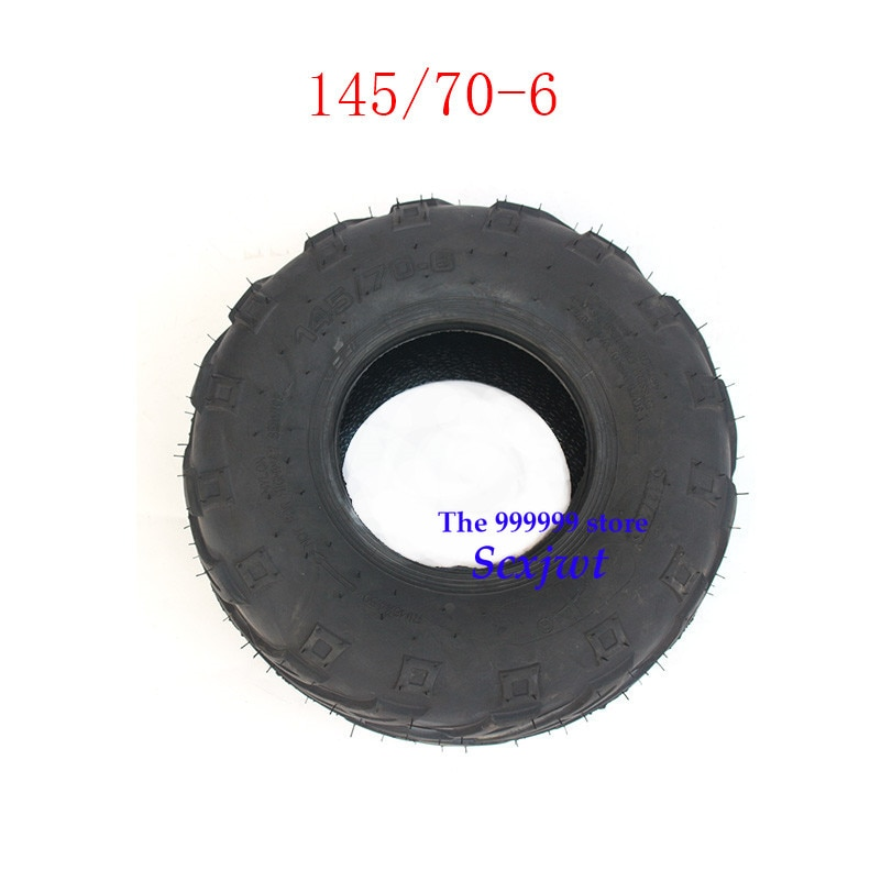 2 piezas más vendidas 6 pulgadas ATV neumático 145/70-6 4 ruedas vehcile Fit para 50cc 70cc 110cc pequeñas ruedas delanteras o traseras ATV