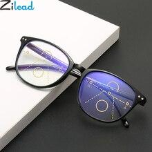 Zilead-lunettes de lecture multifocales Anti-lumière bleue   Pour femmes et hommes presbytes, lunettes hyopie + 1.0to + 4.0