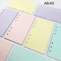 new 40 sheets a5 a6 loose leaf notebook paper refill spiral binder index inner pages monthly weekly daily planner agenda