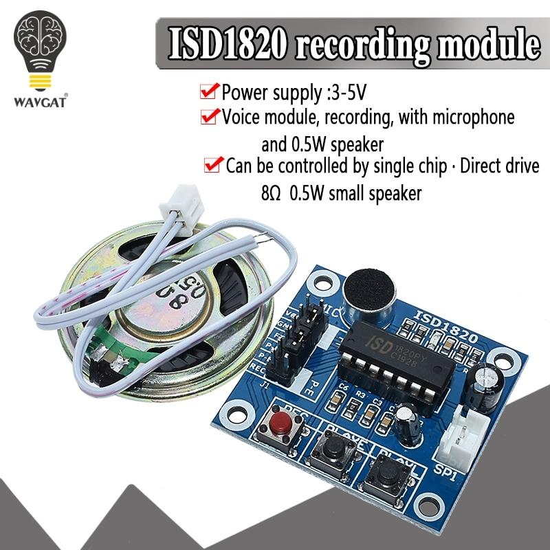 Module denregistrement ISD1820 module vocal carte du module téléphonique de la carte vocale avec Microphones + haut-parleur pour arduino