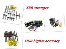 Kit de moteur de marche + broche   guide linéaire HGR15/HGR20/SBR16/SBR20 + vis à rotule SFU1605/1610 + Nema23 kit de moteur de marche pour routeur, livraison gratuite