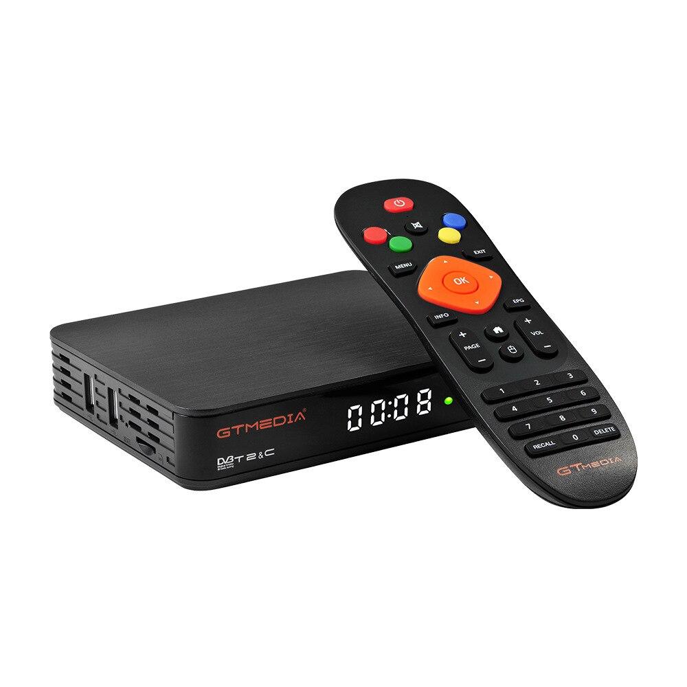 Gtmedia gtt2 smart tv box DVB-T2/cabo (j83.a/c)/ATSC-C/isdbt android 6.0 2gb + 8gb 4k h.265 wifi iptv android caixa (plug ue)