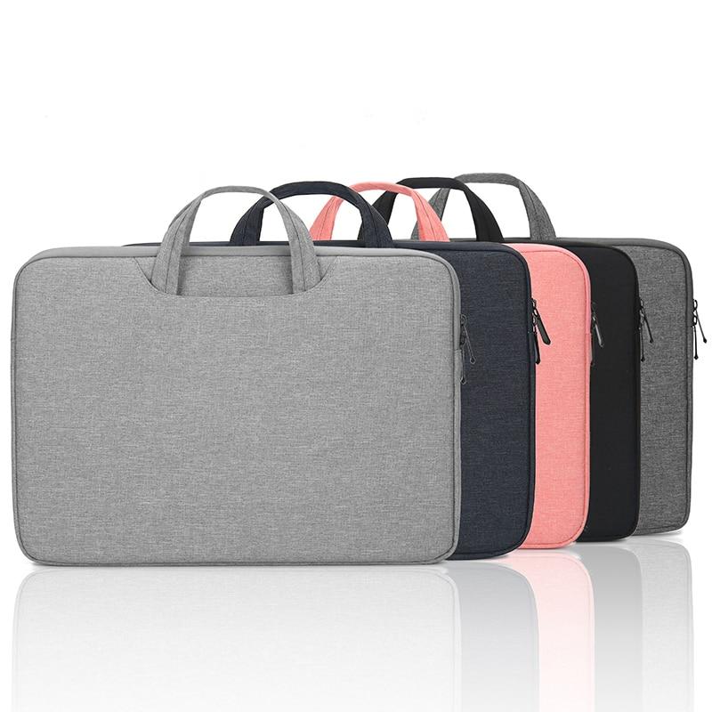 حقيبة كمبيوتر محمول جديد 13.3 14 15.6 بوصة حقائب دفتر مقاوم للماء كم لحقيبة ماك بوك اير برو المرأة حقيبة الكتف حقيبة غطاء