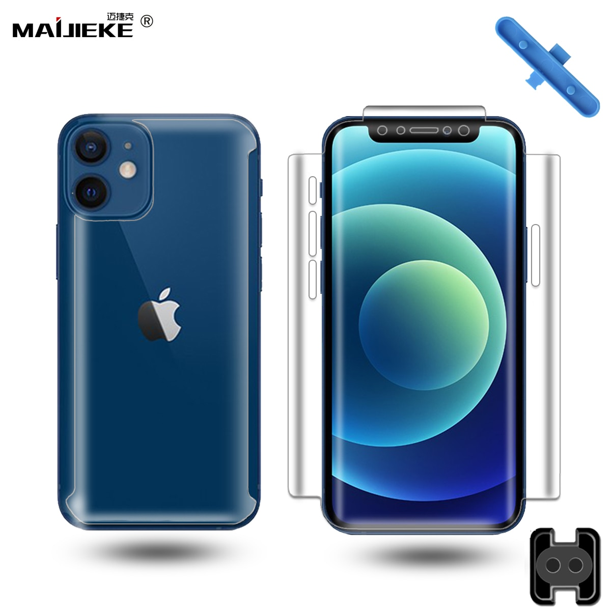 360 Full Body Hydrogel Film Voor Iphone 12 Pro Max Screen Protector Voor Iphone 12 Mini X Xs Max Xr 7 8 Plus Se 2020 Nano Film