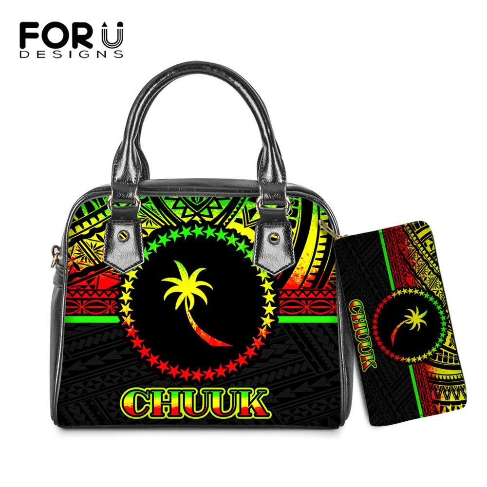 Bolsas para Mulheres Couro do Plutônio Bolsa e Bolsas Forudesigns Micronésia Reggae Chuuk Impressão Casual Senhoras Grande Embreagem Cor