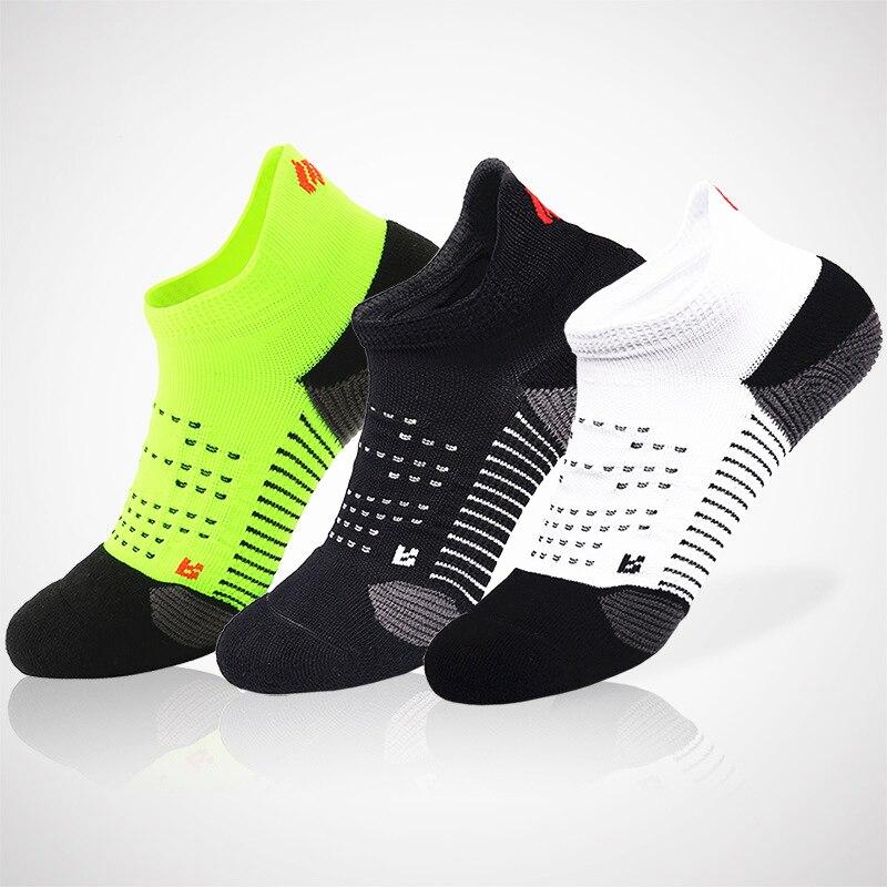 Новые мужские Высокопроизводительные хлопковые Терри подушки, влагоотводящие удобные спортивные бесшовные спортивные носки для бега