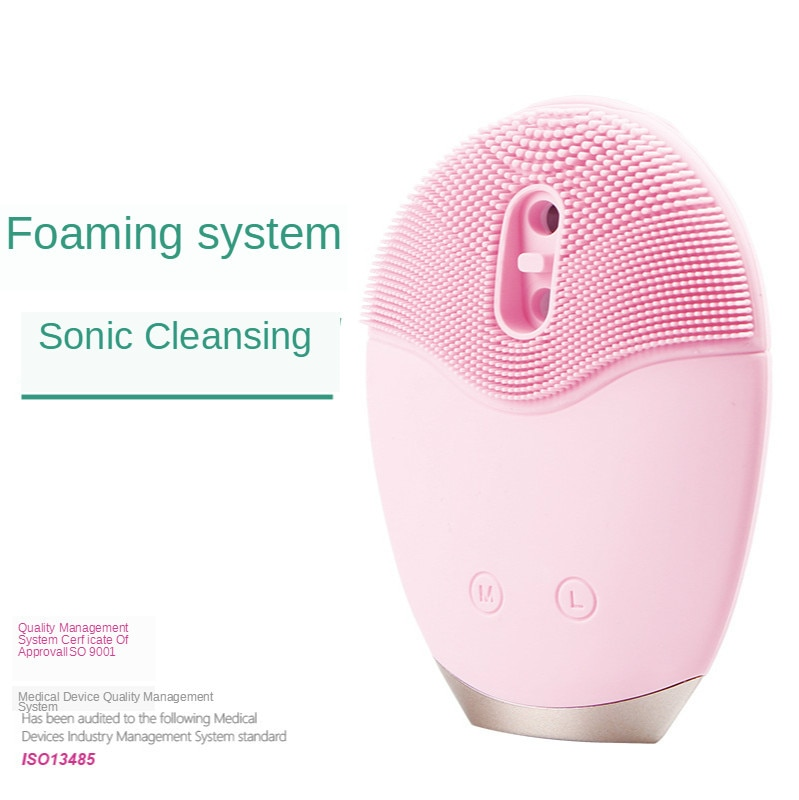 Silicone foaming cleanser silicone electric facial cleansing brush