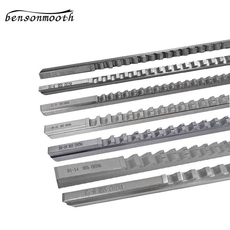 Keyway اطرح مجموعة B1-4 B1-5 C1-6 C1-8 D1-10 D1-12 D1-14 الدبابيس قطع أداة CNC Machinine أداة مجموعات سكين