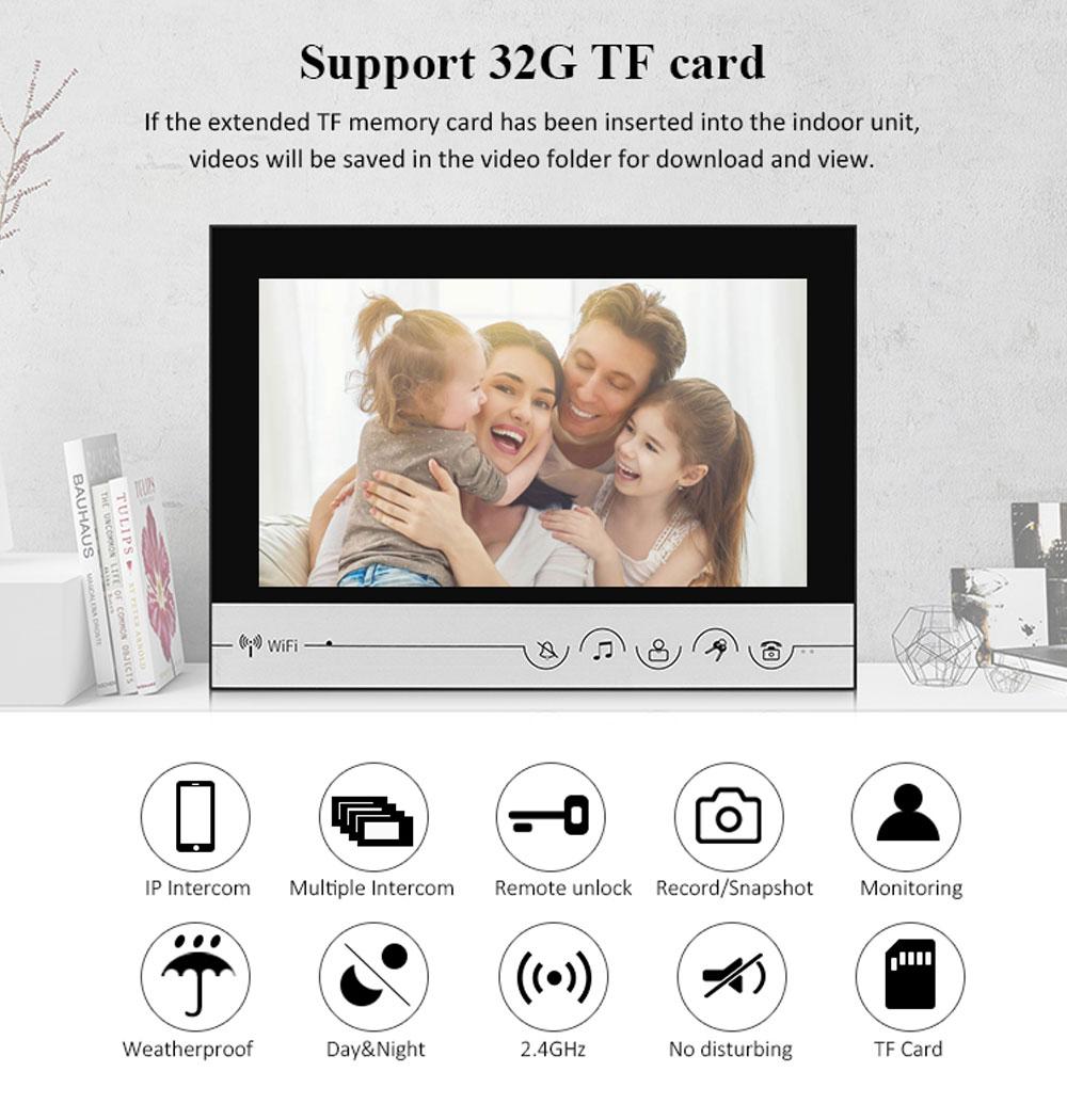 9 inch WIFI Video Door Phone Intercom Entry System 1 Monitor + 1 RFID Outdoor Camera + Electric Lock APP Phone Unlock enlarge