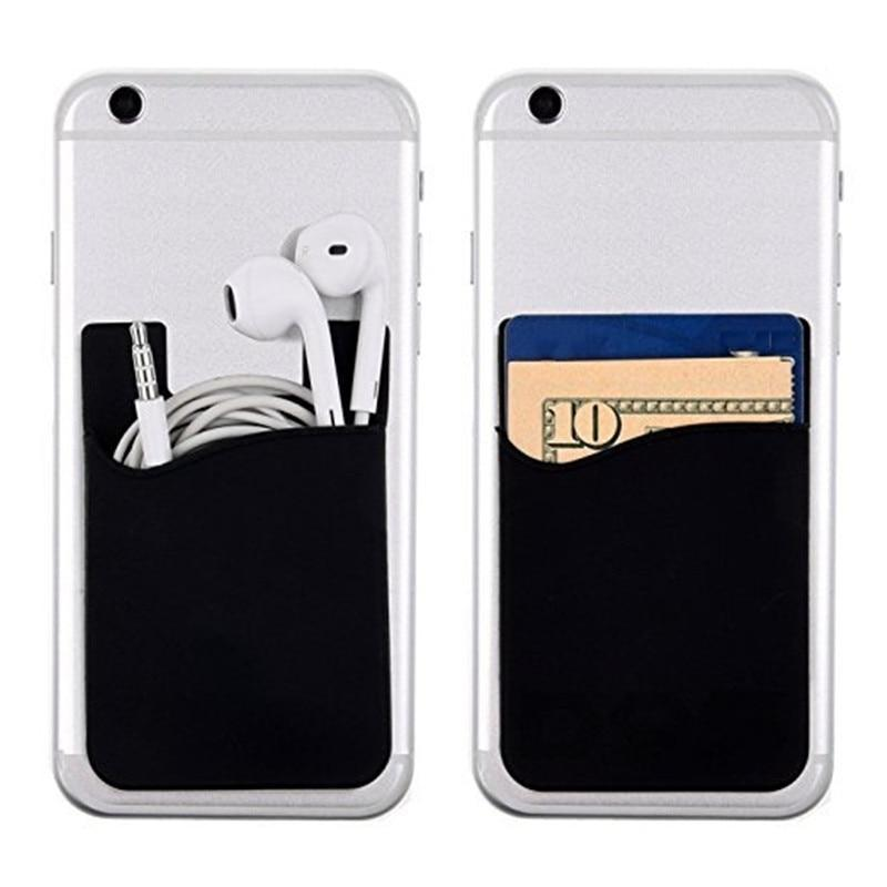 Adhesive Sticker Mobile Phone Back Cards Wallet Case Credit ID Card Holder Cell Phone Card Holder Pocket 5.6*8.7cm