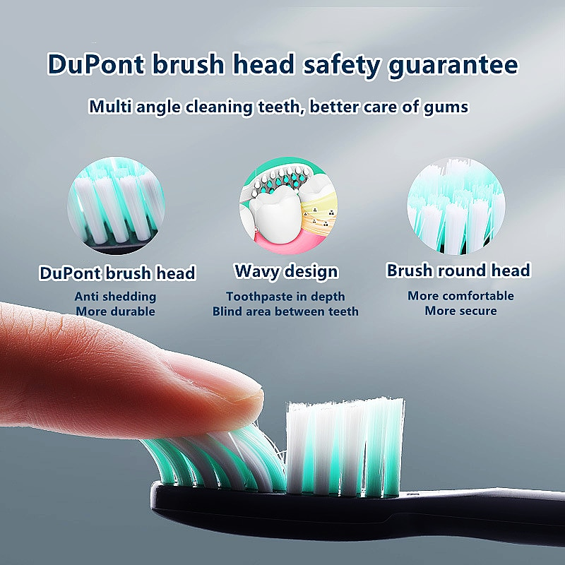 Sonic Electric Toothbrush Adult Timer Brush 5 Mode USB Charger IPX7 Waterproof Rechargeable Tooth Brushes Replacement Heads Set enlarge