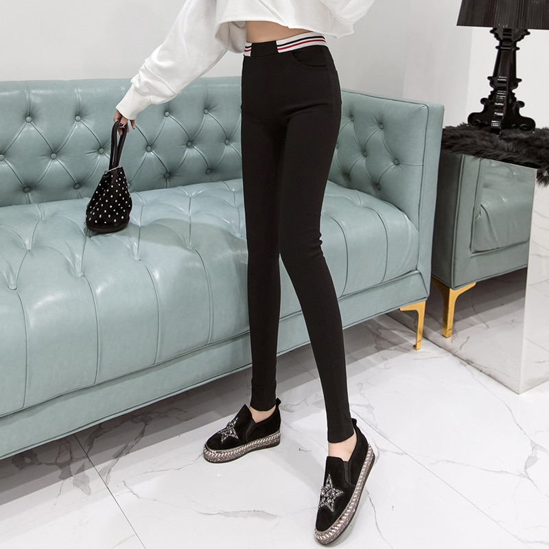 Real Shot 2021 Spring and Autumn New High Waist Outerwear Leggings
