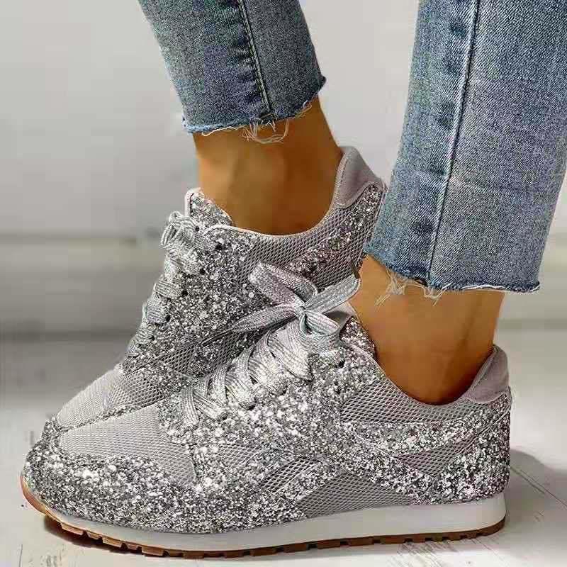 Zapatillas deportivas De malla De aire para Mujer, Zapatos transpirables con cordones, ostentosos, color rosa, para correr, Verano