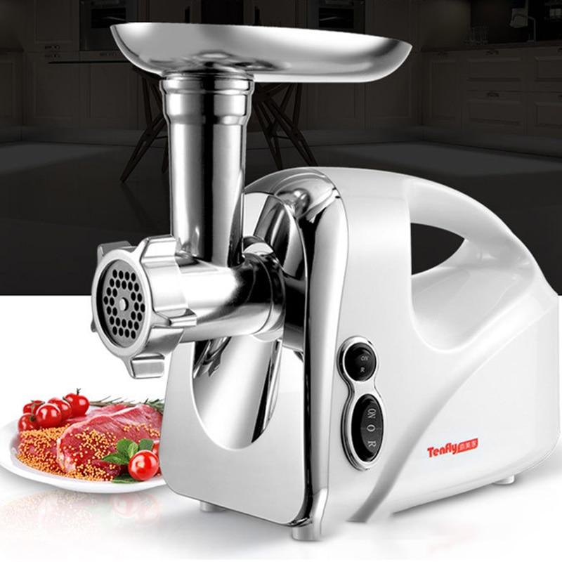 Electric Meat Grinder Multifunction Blender Chopper Slicer Sausage Stuffer Meat Mincer Food Processor Commercial Enema Machine