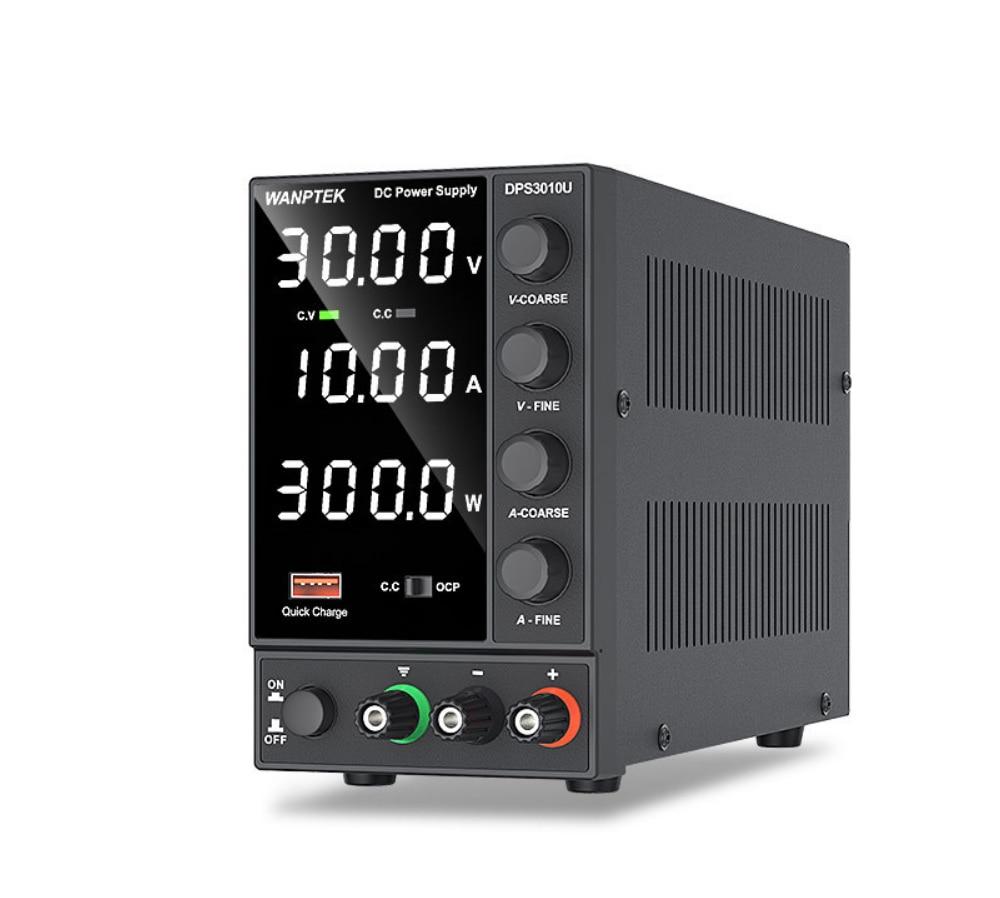 Wanptek DPS3010U 30V 10A USB DC Laboratory Power Supply Adjustable 60V 5A Voltage Regulator Stabilizer Switching Power Supply nps306w laboratory switching power supply 30v 6a variable dc stabilized power supply 0 1v 0 01a 180w electroplating power supply