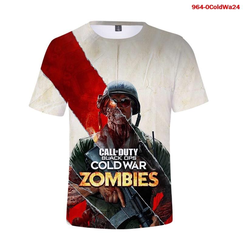 Camiseta de Call of Duty para hombres y mujeres, camisa de moda...