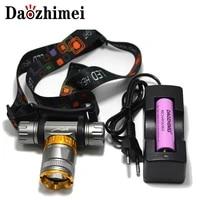 underwater diving headlight 3800 lumen t6 headlamp led waterproof swimming dive head light torch lamp lighting tactical flash
