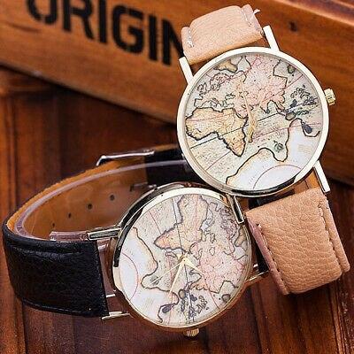 World map clock inserts several golden color vintage fashion bracelet analogicog 99 S0231 sent from Italy