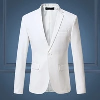 high quality gentleman men slim casual white suit large size brands mens business casual flow of pure color blazers men
