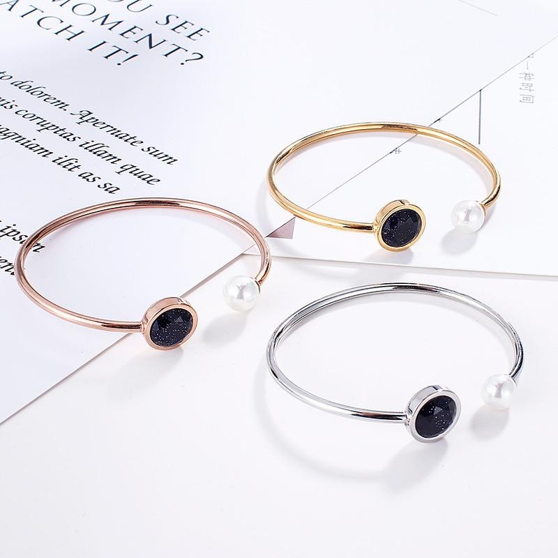 Fashion Silver Color Gold  Bracelets Red Black Beads Bracelets Jewelry For Men Women