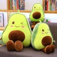 304560cm cute 3d avocado stuffed plush toy soft baby doll cartoon fruit pillow sofa cushion kids girls christmas birthday gift