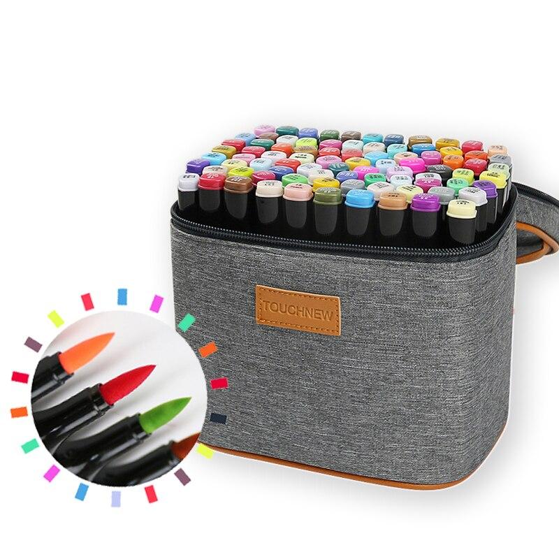 Маркеры TouchNEW 6/12/30/40/60 /80 цветов, маркеры для рисования манги, ручка на спиртовой основе, фломастеры скетчинга, жирной двойн...