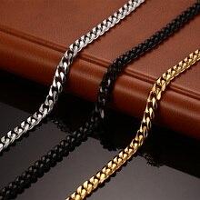 Vnox classique chaîne collier 24/30 pouces pour hommes sautoir 3/5/7MM de large titane acier bijoux à bricoler soi-même