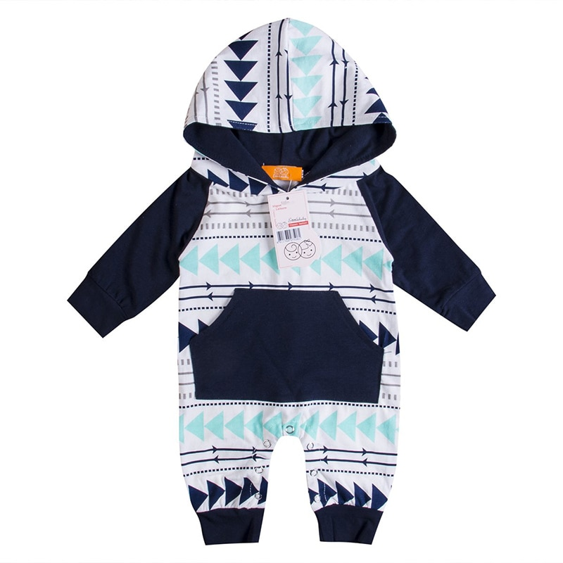 Toddler Newborn Boys Baby Clothes Adorable Kids Baby Boys Infant Rompers Hooded Cute Children's Clothing Sets Jumpsuit Outfits
