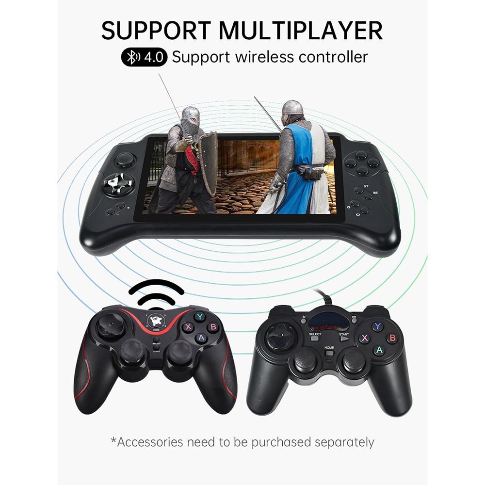 المزدوج المقود 2GB + 32GB دعم TF بطاقة التوسع لعبة فيديو آلة 7 بوصة المحمولة المحمولة واي فاي لعبة وحدة التحكم لنظام أندرويد