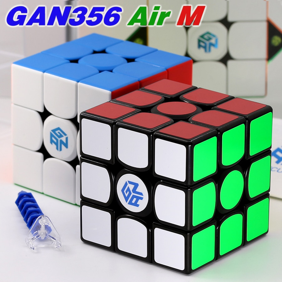 gan 365 air sm 3x3x3 speed cube black color gan air sm magnetic 3x3x3 puzzle speed cube educational learning toys for children Magnetic GAN Cubes 3x3x3 GAN 11 M Pro 356 Air M GAN356 G356AirM Stickers Stickerless Speed Educational Toys 3x3 Game Cube Puzzle