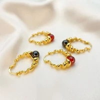 new punk copper golden earclip earrings eyeball agate ins women retro personality spiral earrings wedding jewelry for gilr gifts