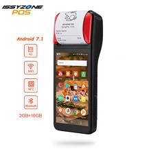 Imprimante de reçus IssyzonePOS 58mm écran tactile PDA Android 7.1 terminal de position portable PDA WIFI Bluetooth 4G PDA Support OTG