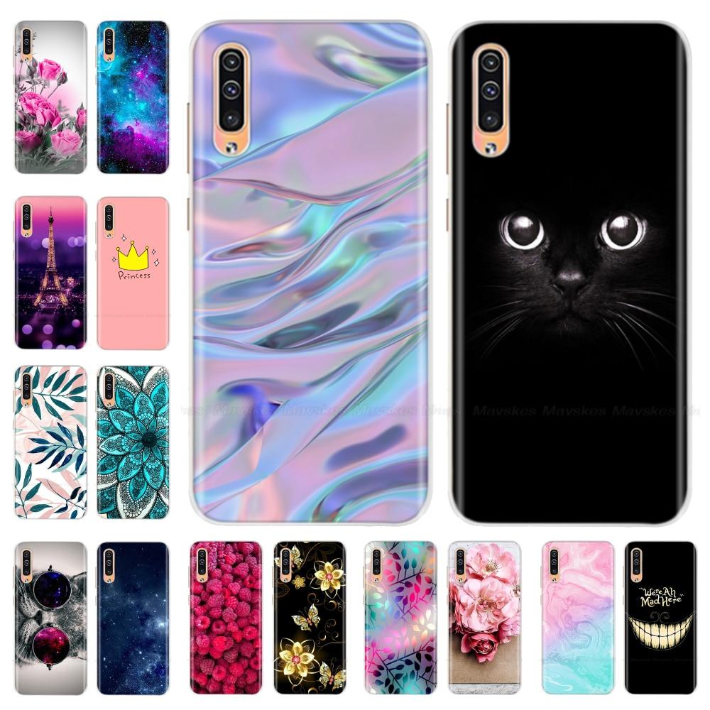 Para Funda Samsung A50 Funda de silicona blanda para Samsung Galaxy A50 A 50 2019 A505 A505F SM-A505F fundas de teléfono Cute Couqe