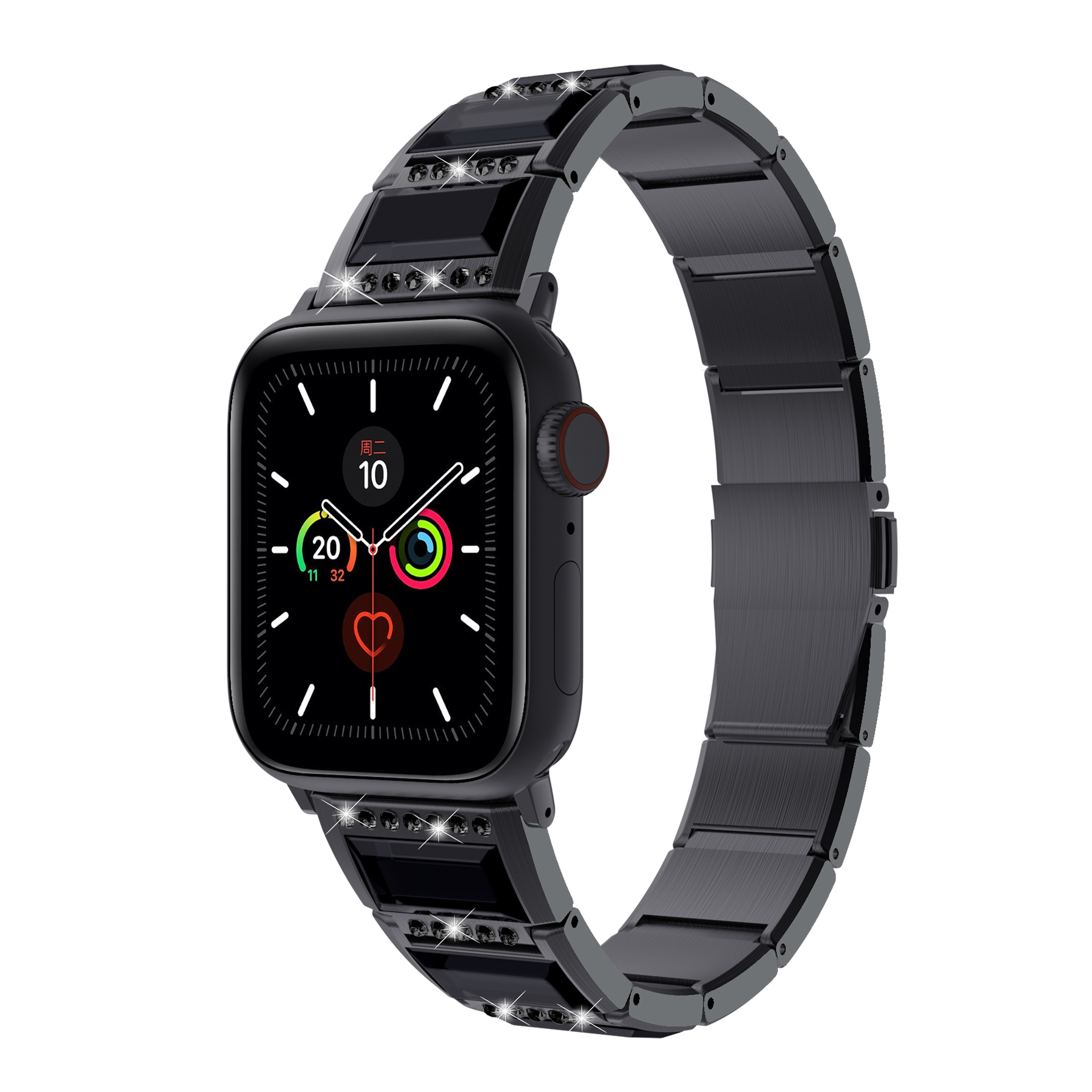 Luxury Jewelry diamond strap Compatible with Apple watch 44mm 42mm 40mm 38mm Stainless steel strap for iwatch 6 5 4 3 2 SE band enlarge