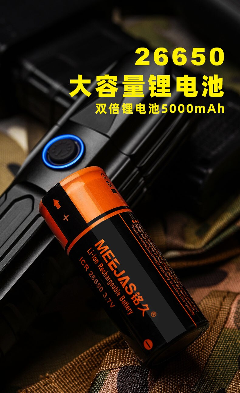 Portable Camping Flashlight Hunting Powerful Adjustable Focus Tactical Flashlight Rechargeable Convoy Lanterna Outdoor Equipment enlarge