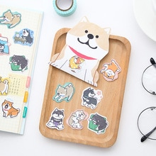 Mohamm 1Pack Leuke Hond Scrapbooking Stickers Cartoon Papier Sticker Vlokken Stationaire Kantoor Accessoires Art Supplies