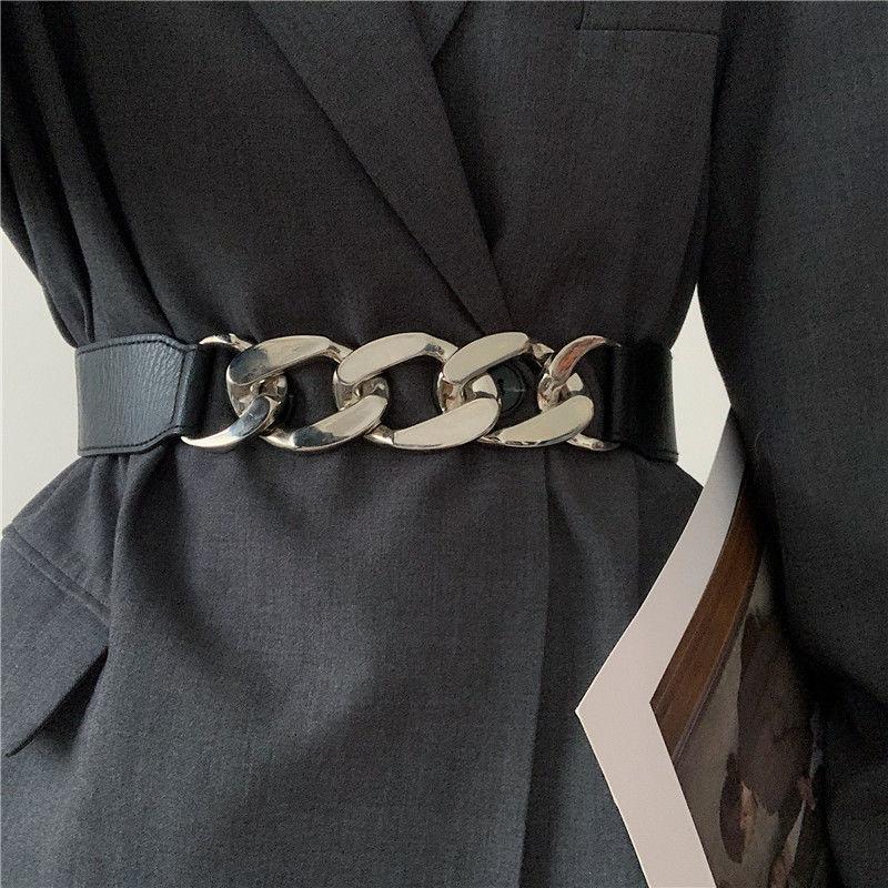 Fashion Elastic Cummerbunds Black Solid Stretch Waistband For Women Dress Accessories Adornment Wais