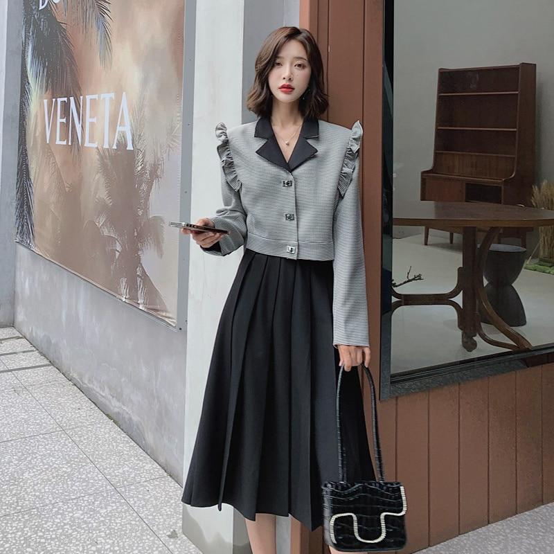 Осень 2021 модное Простое Элегантное приталенное повседневное облегающее универсальное модное платье