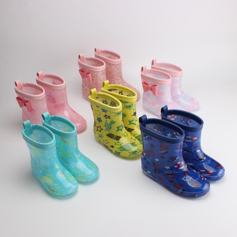 Botas de lluvia para niños 2020, zapatos de lluvia japoneses para niños, zapatos de lluvia de cristal antideslizantes, zapatos de agua de dibujos animados para bebés